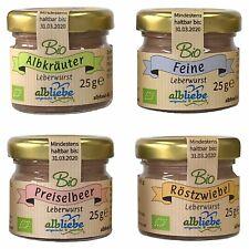 (59,97€/kg) albliebe MixBox Bio Leberwurst Sortiment 12x25g Wurst Gläsle albfood