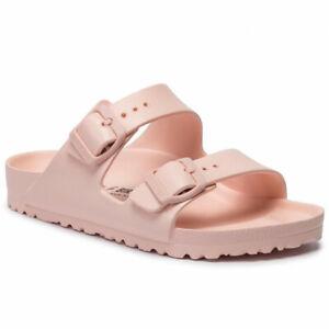 Birkenstock Womens Arizona Essentials Eva White Rose Pink Narrow Sandals 1014614