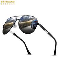 KEITHION Men's Retro Polarized Metal Sunglasses Glasses Driving Fishing Eyewear