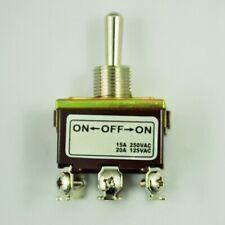 1X(DPDT On / Off / On 3 Posizione 6 vite Morsetti Interruttore a levetta AC M1C4
