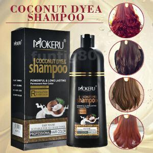 Mokeru 500ML Hair Color Coconut Oil Essence Instant Cover White Hair Dye Shampoo