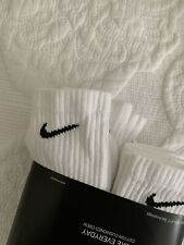 NIKE Everyday Cotton Cushioned Crew White 3 Pack Socks