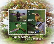 Dominica 2007 MNH Hummingbirds of Caribbean 4v MS Birds Hermit Antillean Crested
