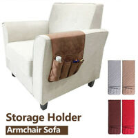 5 Pocket Sofa Armrest Organizer Bag  Waterproof Storage Pockets Remote Control