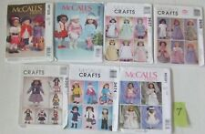 Lot of 7 American girl doll clothes patterns fits 18 in doll new and uncut #7