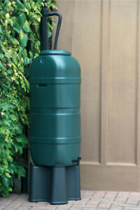 Ward SlimLine Water Butt Tank Stand With Set Including Lid & Tap 100L Green