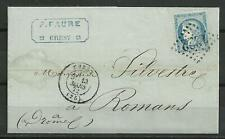France Postal History: 1872 Cover