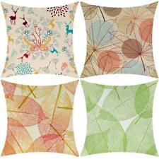 """Pillow Covers Cases Set of 4 18"""" x 18"""" Nature Colorful Shabby Chic Farmhouse"""
