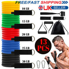 13PCS Resistance Bands Workout Exercise Fitness Yoga Training Elastic Tubes UK