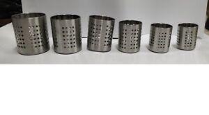 6pc Set Stainless Steel Cutlery Stand Kitchen Sink Tidy Drainer Utensil Holder