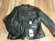 XL   WOMENS Black Leather Vented Motorcycle Jacket 6811.00 #0034