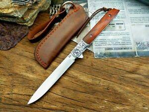 Drop Point Folding Knife Pocket Flipper Hunting Wild Survival Tactical D2 Steel