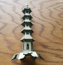 Mid Century Brass Tower Temple China - 3434