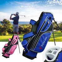 Children Golf Club Bag Lightweight 4 Way Divider Dual Carry Strap Stand Bags