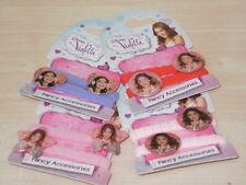 ELASTICI per capelli VIOLETTA DISNEY n. 2 coppie fermacoda colorati