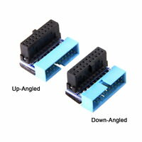 USB 3.0 20pin Male to Female Extension Adapter Up Down Angled 90 Degree