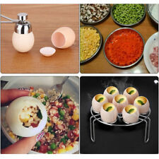 Stainless Steel Egg Topper Cutter Shell Opener Boiled Raw Egg Open Scissors Tool