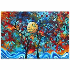 Landscape Painting Abstract Tree Art Vibrant Accent Piece Expressionism Artwork