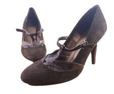 "Women's Shoes Size 7.5 UK  Per Una M&S High Heel  Italy Brown 4"" Heel Insolia"