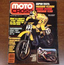 MOTO CROSS MAGAZINE  FEBRUARY 1983 YAMAHA YZ125 CR250 YZ80 RICK JOHNSON GLOVER