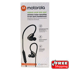 New Motorola VerveLoop 500 Anc Wireless Noise Canceling In Ear Buds Headphones