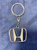 Honda Auto 3D Hollow Out Car Logo Metal Key Chain Pendant Holder Silver Keyring