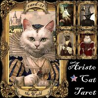 cat tarot card cards deck fortune telling rare vintage oracle cats supplies gift