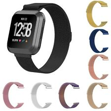 Milanese Band Stainless Steel Loop Bracelet For Fitbit Versa Magnetic Clasp Belt