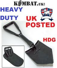KOMBAT UK ENTRENCHING TOOL TRI FOLDING DOUBLE SHOVEL SPADE CAMP SURVIVAL HEAVY