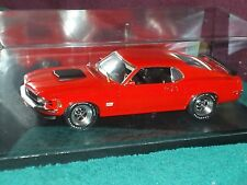 HIGHWAY 61 1970 FORD MUSTANG BOSS 429 CALYPSO CORAL 1/18 w DISPLAY CASE