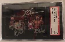 X-Pac Scott Hall Kevin Nash Signed NWO WCW Wolfpac Kliq Looney Tunes Auto SGC