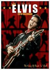 ELVIS PRESLEY 2018 CALENDAR LARGE UK POSTER SIZE WALL BY OC + FREE UK POSTAGE !!