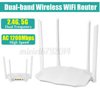 AC1200 Dual Band Wireless WiFi Router 1200Mbps 2.4GHz/5GHz 1GHZ CPU FAST Wi-Fi