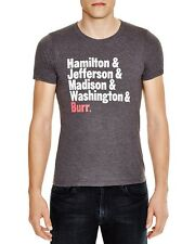 Official Hamilton X-LARGE Broadway Musical Names Shirt Jefferson Burr NEW