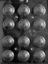 3D GOLF BALLS mold Chocolate candy CAKE TOPPERS golfing plaster molds