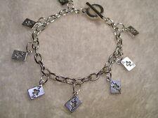 POKER Ace of Hearts Card Toggle Bracelet Vegas Gambling