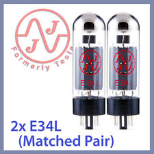 2x NEW JJ Tesla E34L Vacuum Tubes, Matched Pair TESTED
