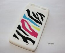 For Motorola Droid RAZR XT912 XT910 - SOFT RUBBER SKIN CASE COVER RAINBOW ZEBRA