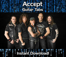 ACCEPT ROCK GUITAR TAB TABLATURE DOWNLOAD SONG BOOK SOFTWARE TUITION