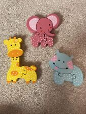 Wooden Baby Animal Puzzles X3