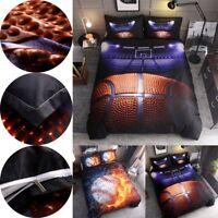 3Pcs Basketball Baseball Print Bedding Set Quilt Duvet Cover Pillowcases Decor !