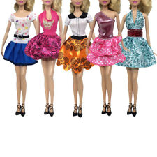 "5Pcs Handmade Doll Dress Clothes for 11"" 30cm Barbie Doll Party Gown Clothing"