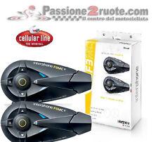 Interfono doppio moto bluetooh Cellular Line F3 mc caschi integrale modulare jet