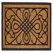 Brown With a Black Scrollwork Design Indoor or Outdoor Entry Way Door Mat Rug  sc 1 st  eBay & Unbranded Contemporary Door Mats \u0026 Floor Mats   eBay