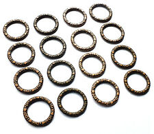 45 x Mixed Copper Bronze Colour Heart Pattern Round Circle Connector Link Charm