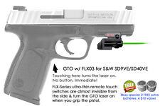 ArmaLaser GTO for S&W SD9VE / SD40VE GREEN Laser w/ FLX03 Grip Touch Activation