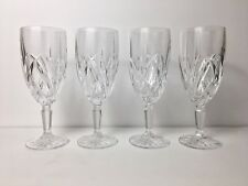 4 Waterford Marquis Crystal Iced Tea Goblets Very Good Preowned Condition
