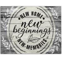 New Home New Beginning New Memories - 11x14 Unframed Art Print - Great Art Decor