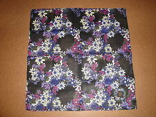 "NWT ANNA SUI 19.5"" SQUARE 100% COTTON  PURPLE LILAC FLOWERS  NECK SCARF BANDANA"