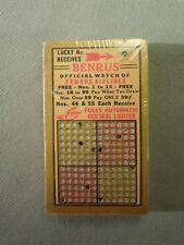 Handheld Punch Board Vintage Handheld Game- Benrus & Lighter Advertisers